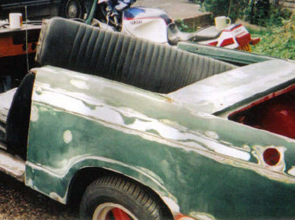 Herald passenger side – after sanding