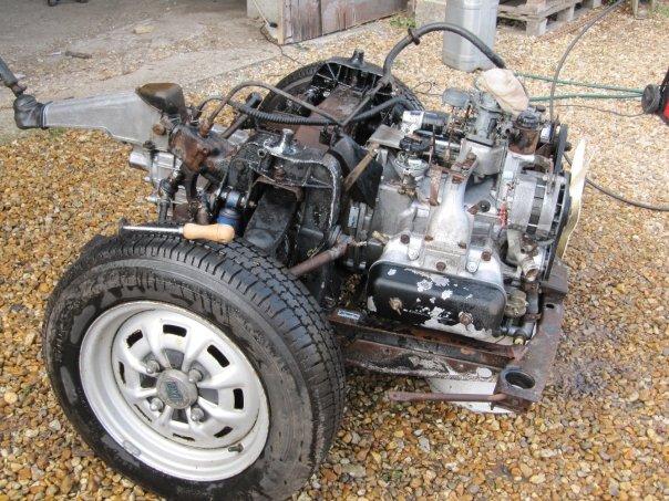 Lancia engine and transmission in subframe