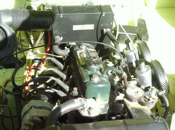 Healey-engine-compartment