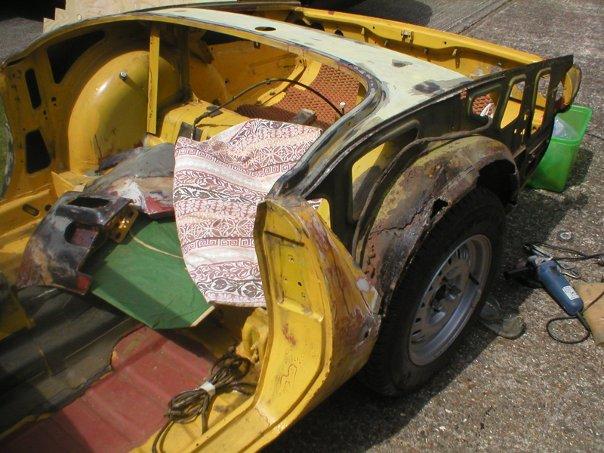 Spitfire rear passenger side before