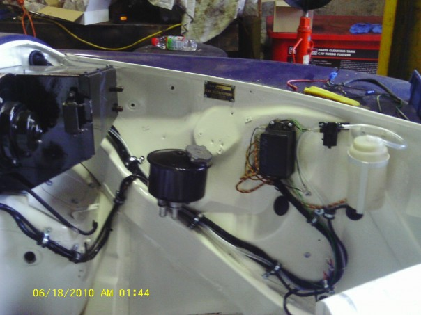 Jaguar engine compartment left hand side